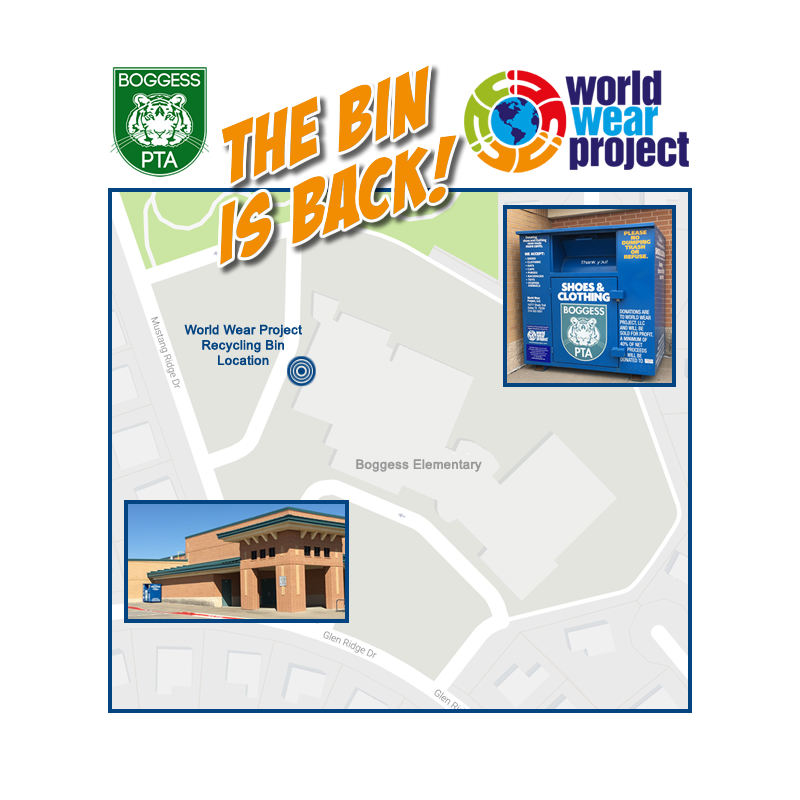 World Wear Project Recycling Bin